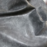 熱い販売の柔らかい耐久財PUの靴の家具(E6087)のための狂気の馬ののどの革
