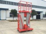 Plataforma de trabalho aéreo de alumínio dos mastros dobro com CE (GTWY)
