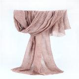 低いMOQの100%年のポリエステル80s汚れた汚れの柔らかいスカーフ