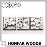 Arte de parede rústica quadro de fotos de madeira natural