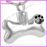 Der HundIjd8085 Edelstahl-Verbrennung-verascht hängendes Halsketten-Haustier Knochen-Form-316L Andenken-DenkmalLocket