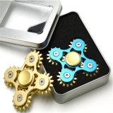 Fantastique Fidget Toys Metal Aluminium 9 Gears Spinner à main Fidget Spinner