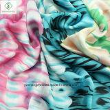 Signora Fashion Satin Silk Scarf con lo scialle stampato piuma