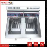 中国の製造者のステンレス鋼の産業倍17LタンクLPGガスの深いフライヤー
