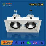 90lm / W 30W luz de grade de alumínio LED para iluminação de obras