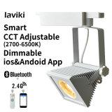 2.4G RF 24Wの無線リモート・コントロール正方形のDimmable CCT調節可能なLEDトラック点ライト