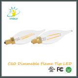 Éclairage de lustre d'ampoule d'éclairage LED de l'ampoule C10/C32 de DEL