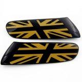 Cubierta negra protegida ULTRAVIOLETA material de la lámpara de la cara del reemplazo del estilo de Gato del oro del color del ABS a estrenar para Mini Cooper F55 F56 (2PCS/Set)