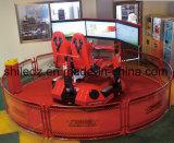 Three Screen 4D 5D 7D Simulador de condução de carro com jogo de carro