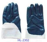 Nitrile Окунутая перчатка для химически обрабатывать