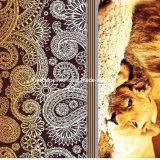 100%Polyester 사자와 표범 Pigment&Disperse는 침구 세트를 위한 직물을 인쇄했다