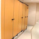 Divisória bonita e limpa da cor de madeira do vestuario