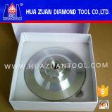 Roda de moedura aglomerada pressionada quente do copo do diamante 9 de Huazuan 4 '' - ''
