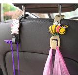 gancho de leva auto de la percha del apoyo para la cabeza del corchete del clip del bolso del sostenedor del asiento trasero del coche de los animales de la historieta 2PCS 18