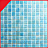 25*25 het Europese Standaard Blauwe Mozaïek van het Glas voor de Tegel van de Pool