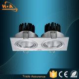 Alta luz de techo de aluminio superventas de la MAZORCA 5W LED del CRI