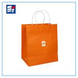 Couleur pliant le sac à provisions de papier fait sur commande avec le traitement Twisted