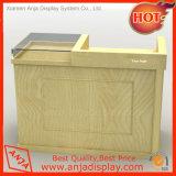 Présentoir au détail en bois de caisse de sortie