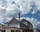 Украшенная башня телекоммуникаций верхней части крыши стальная