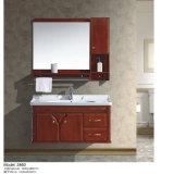 Деревянная мебель ванной комнаты цвета