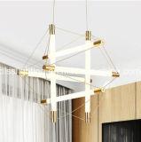 ホテルのプロジェクトの照明のための現代新しいデザイン金の管LED吊り下げ式ライト