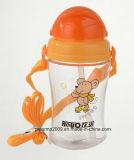 пластичная бутылка подавая воды 350ml для младенца малышей, бутылка воды красного цвета