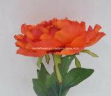 작약 (XF30015)의 인공 플라스틱 또는 실크 꽃 단 하나 줄기