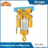 Таль с цепью двойной скорости 20 t электрическая (ECH 20-08D)