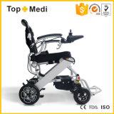 Sillón de ruedas transportable ligero plegable de aluminio de la energía eléctrica de Topmedi