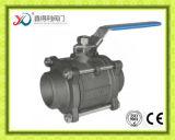 Robinet à tournant sphérique 3PC normal de m3 de l'usine DIN2999 de la Chine avec le certificat de la CE
