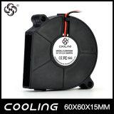 ventilador elevado do ventilador do centrifugador do fluxo 6015 do ventilador do ventilador da C.C. de 60X60X15mm 12V 24V 60mm