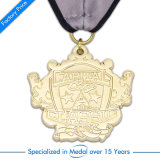 Medaglia d'ottone antica su ordinazione del ricordo di anniversario del metallo della Cina