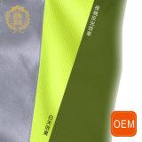 Uniforme reflexivo amarillo de la seguridad de la chaqueta del polo del tráfico del Vis del OEM hola