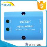 Uso do APP do telefone móvel de Epsolar Ebox-WiFi para o controlador solar dos Bn do Tracer do Ep