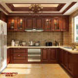 Pintura Antiguidade Classic Solid Wooden Kithcen Gabinete Design (GSP5-047)