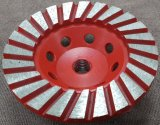 Las filas de diamantes rueda doble Copa (SZJ7245) para el pulido de las piedras