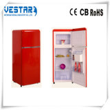 Новый холодильник двойной двери красного цвета конструкции