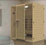Quarto da sauna da madeira contínua (AT-8624)