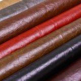 Cuero sintetizado engrasado suave del PVC de la PU R64 de la venta caliente para los libros de la cubierta del menú de la cubierta de Carseat de los bolsos de los muebles