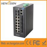18 Port+ interruptor industrial manejado 4 gigabites de la red de Ethernet