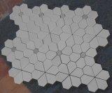 Brique de marbre de mosaïque de Carrare de produit de fleur de prix usine