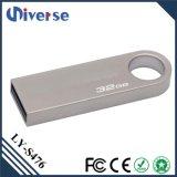 Привода вспышки USB ручки металла серебра золота поставкы фабрики USB ключевое 1GB-128GB памяти привода пер логоса алюминиевого миниого изготовленный на заказ