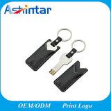 Metallschlüsselform USB-Speicher-Blitz-Leder USB-Stock