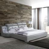 2017寝室セット(FB8128)のための最新のデザイン革ベッド