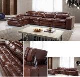 Sofa à la maison moderne de cuir véritable de salle de séjour avec le coin (HC2078)