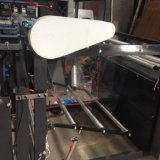 Tipo econômico máquina de estaca das folhas da película plástica