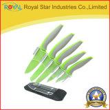 Serviço público ajustado das facas de cozinha do aço inoxidável/cozinheiro chefe/corte/facas da fruta com suporte