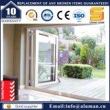 オーストラリアの標準によって二重ガラスをはめられる防音のBifoldデザインアルミニウムホールダーのドア