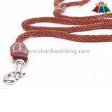 Hot-Sale de alta qualidade de cor sólida 10 milímetros de poliéster / Nylon Leash & Selve-Adjustable Collar