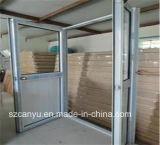 Portello di vetro di alluminio della stoffa per tendine di disegno moderno della Camera singolo con il prezzo basso